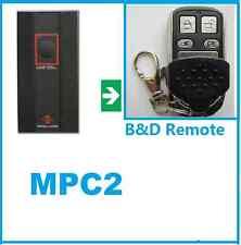 B&D ROLLER DOOR REMOTE CONTROL MPC2 TX318 MHz BND UHF Radio tx 318