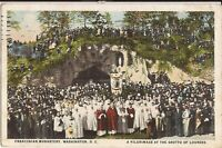 WASHINGTON, DC - Franciscan Monastery of Holy Land - Grotto of Lourdes -1927