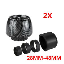 2Pcs Motorcycle ATV Cold Air Intake Filter 28mm-48mm Inlet Mushroom Universal