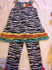 Bonnie Jean Dress Zebra Print Size 4 YEARS 4T