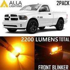 Alla Lighting Front Turn Signal Light 3157 Amber LED Bulb Yellow Blinker for Ram