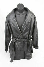 WILSONS LEATHER THINSULATE ULTRA 100%  Leather BELTED Driving Jacket Sz MEDIUM