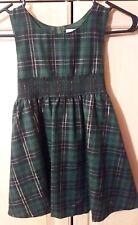 Girls Size 6 Little Miss Attitude Green Smocked Tartan Plaid Jumper/Dress