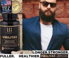 Virilitas Beard & Hair Fast Growth Vitamin Best Supplement B12 60 Cp With Biotin