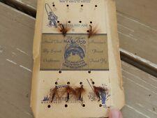 "Vtg Lot of 6 Haywood Flies Fishing Lures ""Special Red Ant"" Original Denver Co"