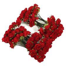 144 X Artificial Paper Red Rose Flower Wedding Craft Decor CP