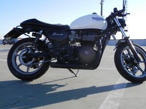 Triumph Bonneville / Thruxton MassMoto Exhaust Full System 2in1 Cross Black New