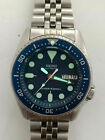 LOVELY BLUE MODDED SEIKO 7S26-0030 SKX013 AUTOMATIC MENS WATCH SN 6N0429