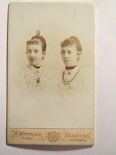 Hamburg - 2 Frauen im Kleid - Portrait / CDV