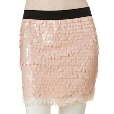 Pink Peach Adult Medium Sparkling Sequin Body Mini Skirt