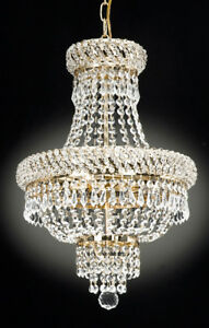 FRENCH EMPIRE CRYSTAL CHANDELIER CHANDELIERS LIGHTING D
