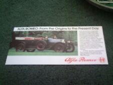 1986 1987 ALFA ROMEO HISTORY ORIGINS TO PRESENT UK SMALL LEAFLET BROCHURE - MINT