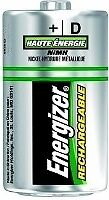 D Rechargeable Batteries - NH50 - Energizer - 2 Pack