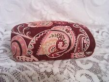 Retired Vera Bradley Piccadilly Plum Print Hard Sided Domed EyeGlass Case NWOT !