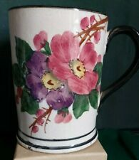 More details for bovey tracey pottery tankard decorated with flowers