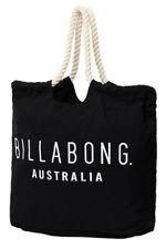 + TAG BILLABONG INFINITY LARGE MARKET BEACH GYM TRAVEL BAG HANDBAG BLACK