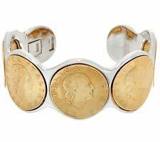 Lire Coin Cuff Small Bracelet $84 Qvc Bronzo Italia Bronze 200 Authentic