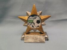 Soccer star insert full color ball resin award