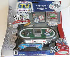 World Poker Tour TV GAMES  Plug and Play 2004 Jakks Pacific New in Package