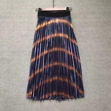 Maje Pleated Metallic Coated Woven Skirt (Size 1) used
