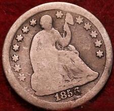 1856 Philadelphia Mint Silver Seated Half Dime