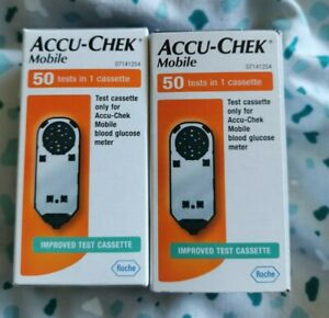 Accu Check Mobile cassettes x2 50test boxes.  Brand new&sealed. 2022 expiry