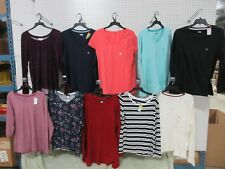 10 XL V-NECK LONG SLEEVE T-SHIRT CLOTHES PULL OVER CASUAL TOP WOMEN'S OUTFIT LOT