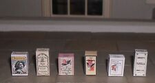 HAND-MADE DOLLS' HOUSE 1/12TH SCALE SET OF SIX VICTORIAN PERFUME BOXES