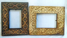 Wooden Photo Frame Old Unique Hand Carved Picture Collectible Art Lot of 2