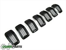 2014-2017 Jeep Cherokee FRONT GLOSS BLACK GRILL GRILLE INSERTS SET OEM NEW MOPAR