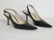 Coach Classic Women's Black Patent Leather Slingback High Heels Size 7 B