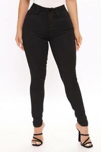 Fashion Nova  Black High Rise Pant Sz 5