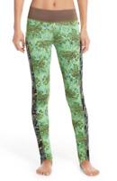 * NWT Maaji 'Ramblnig Path' Stirrup Leggings, Size Large - Green