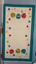 Moda Merry & Bright Christmas Panel by Sandy Gervais Aqua 17361-14 DHTF