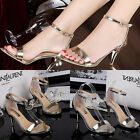 NEW Summer Casual Womens Peep Toe Ankle Strap Shoes High Heels Single Shoes