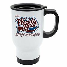 The Worlds Best Stage Manager Thermal Eco Travel Mug - White Stainless Steel