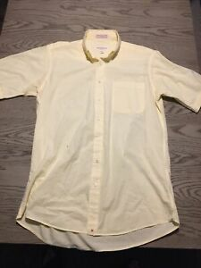 VTG 90s Hathaway Country Button Down USA Cotton Size M Yellow