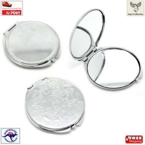 Portable Round Pocket Mirror Compact Dual Sided Makeup Hand Purse [A4J~A4]