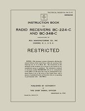 REPRINT T.O. 08-10-47 RADIO RECEIVERS BC-224-C & BC-348-C, INSTRUCTION BOOK