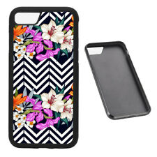 Cool Flower Pattern RUBBER phone case Fits iPhone