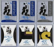 2015 Leaf Trinity Jaelen Strong Blue PURE Glass Auto RC 22/25 WR Texans