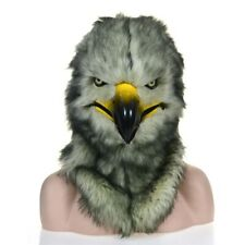 Gray Eagle Mascot Costume Can Move Mouth Head Suit Halloween Outfit Cosplay Xmas