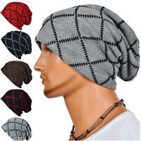 Unisex Mens Womens Knitted Baggy Beanie Oversize Winter Hat Ski Slouch Warm Cap