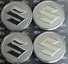 SUZUKI SILVER 4 X 60mm wheel center stickers decals logos badges Jimny Grand