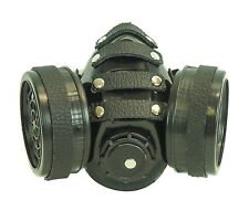 Buffalo Leather Gas Mask Respirator Punk Goth Rave Cyber Halloween Dual Filter