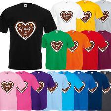 Oktoberfest T-Shirt Herren mit Motiv Lebkuchen - I mog di - Tracht