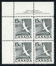 Canada SG474 1954 15c U/M Plate Block