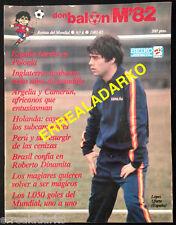 DON BALON MUNDIAL 82 Nº6 FUTBOL ESPAÑA 82-HUNGRIA-ALEMANIA-HOLANDA-PERU-ETC