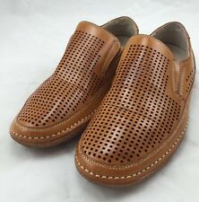 Stacy Adams Men's Northshore Natural Brown Perforated Loafers size 7.5 ns8/10