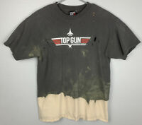 Top Gun Wingman Distressed Bleached Short Sleeve Shirt Mens L Large 2004